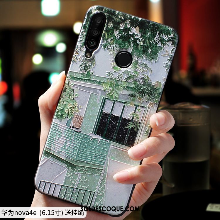 Coque Huawei P30 Lite Téléphone Portable Créatif Vert Silicone Frais France