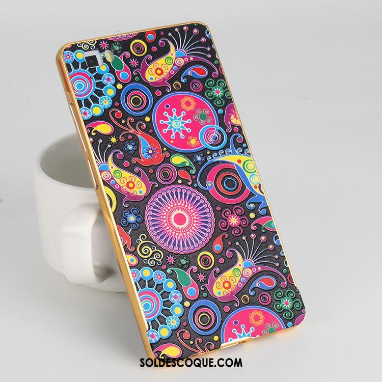 Coque Huawei P9 Lite Étui Gaufrage Multicolore Téléphone Portable Métal Soldes