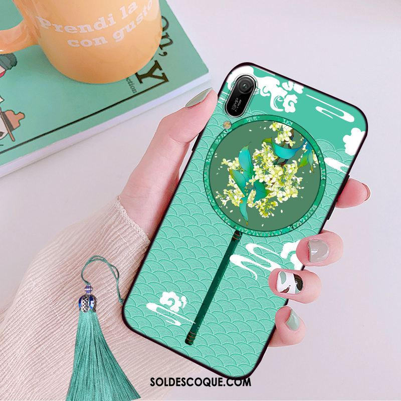 Coque Huawei Y6 2019 Vert Tendance Style Chinois Protection Personnalité Pas Cher