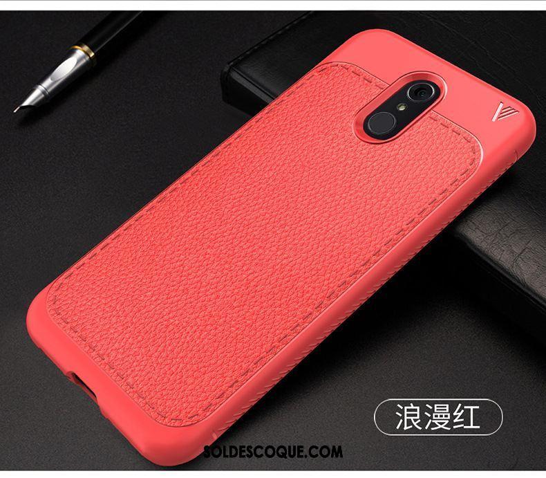 Coque Lg Q7 Fluide Doux Couvercle Arrière Téléphone Portable Rouge Protection Soldes