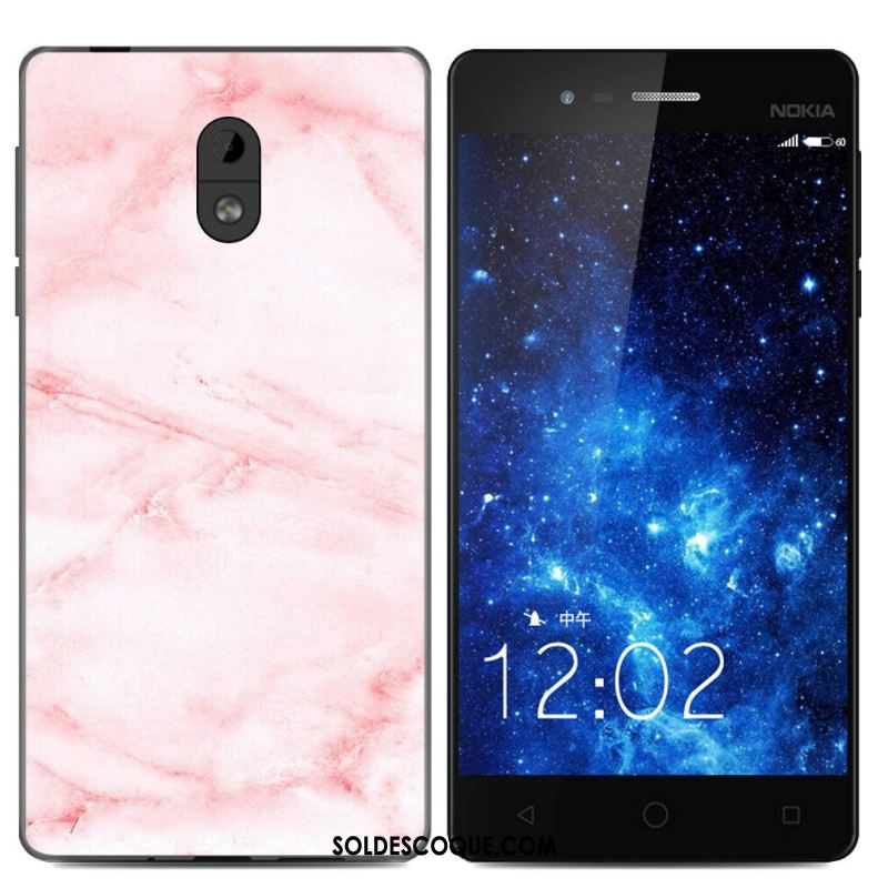 Coque Nokia 3 Fluide Doux Silicone Grand Étui Rose France