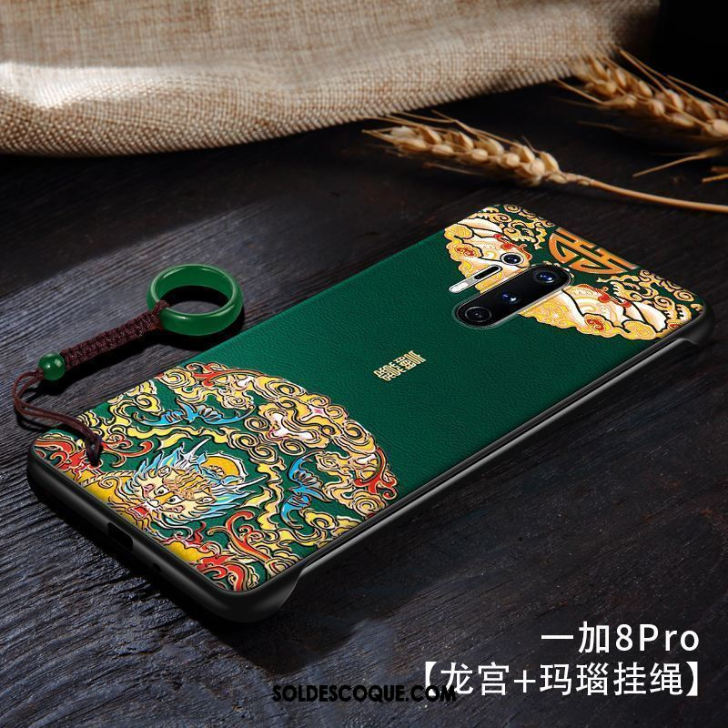 Coque Oneplus 8 Pro Style Chinois Protection Vert Téléphone Portable Border France