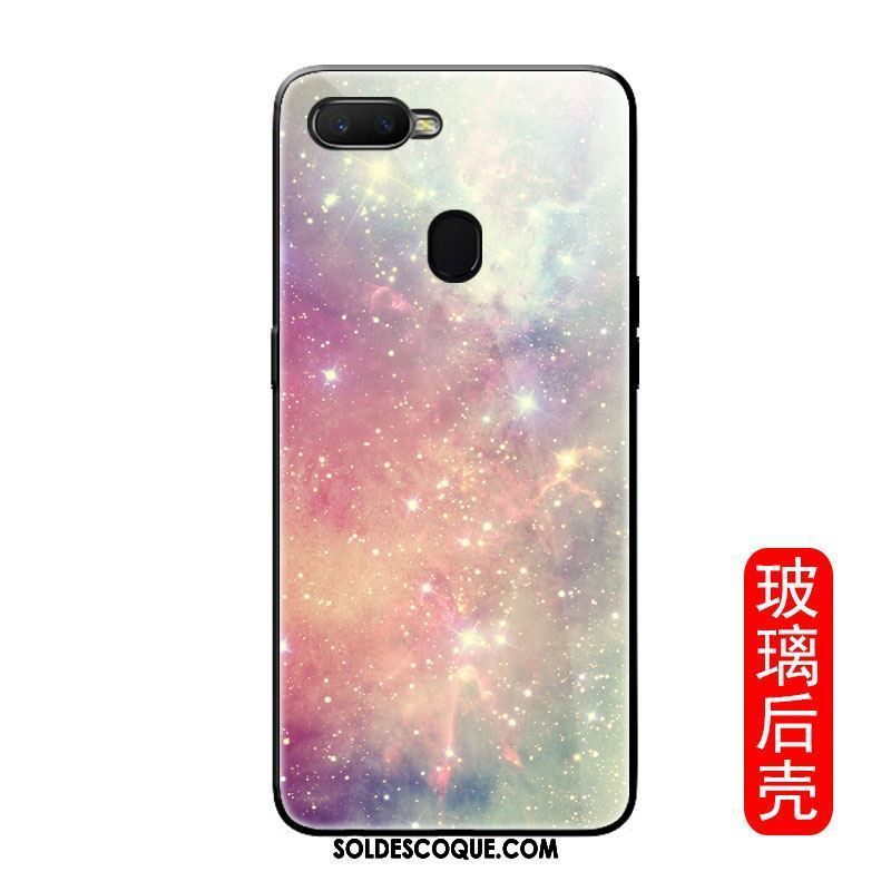Coque Oppo F9 Starry Paysage Camouflage Verre Multicolore Silicone Pas Cher