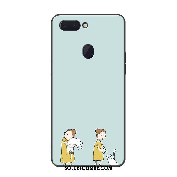 Coque Oppo R15 Pro Bleu Protection Téléphone Portable Silicone Chat Housse France