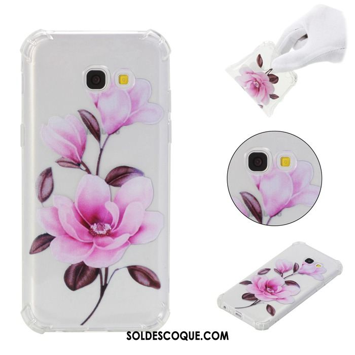 Coque Samsung Galaxy A5 2017 Protection Étoile Rose Fluide Doux Étui France