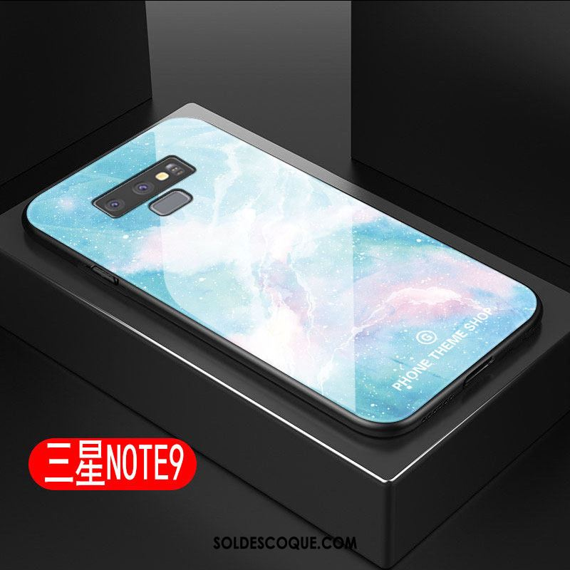 Coque Samsung Galaxy Note 9 Bleu Étoile Silicone Étui Grand Pas Cher