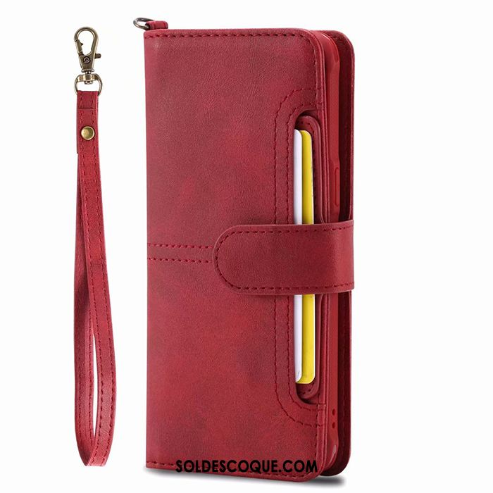 Coque Samsung Galaxy S8+ Ornements Suspendus Portefeuille Sac Carte Vin Rouge Étui En Cuir France