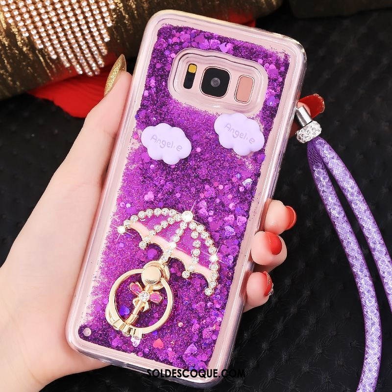 Coque Samsung Galaxy S8 Ornements Suspendus Violet Quicksand Tendance Étui France