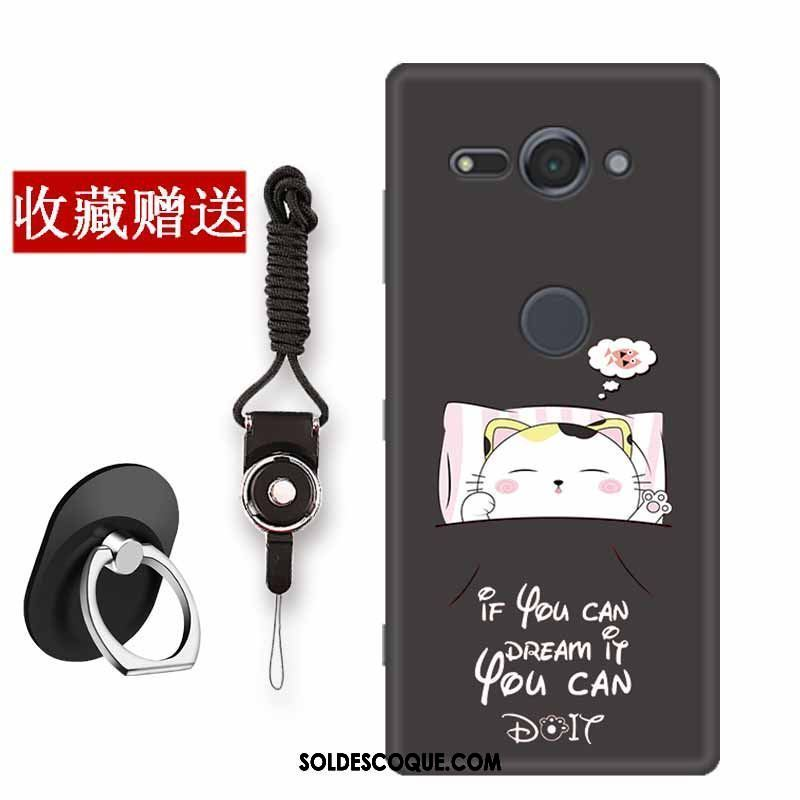 Coque Sony Xperia Xz2 Compact Incassable Simple Noir Silicone Protection France