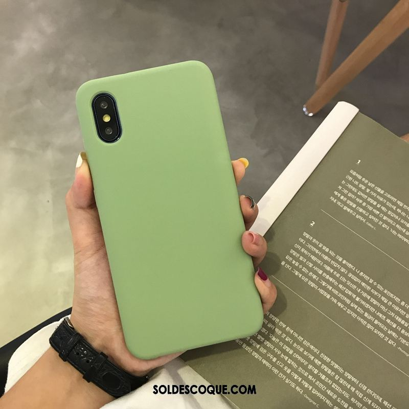 Coque Xiaomi Mi 8 Pro Incassable Business Simple Étui Silicone Pas Cher