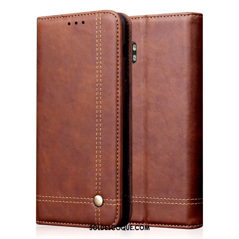 Coque Xiaomi Mi Note 10 Petit Business Mode Protection Étui En Cuir En Vente