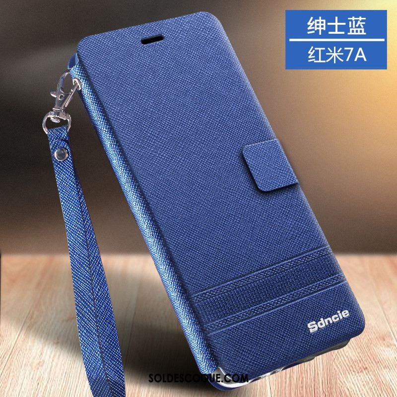 Coque Xiaomi Redmi 7a Business Fluide Doux Or Étui En Cuir Protection En Vente