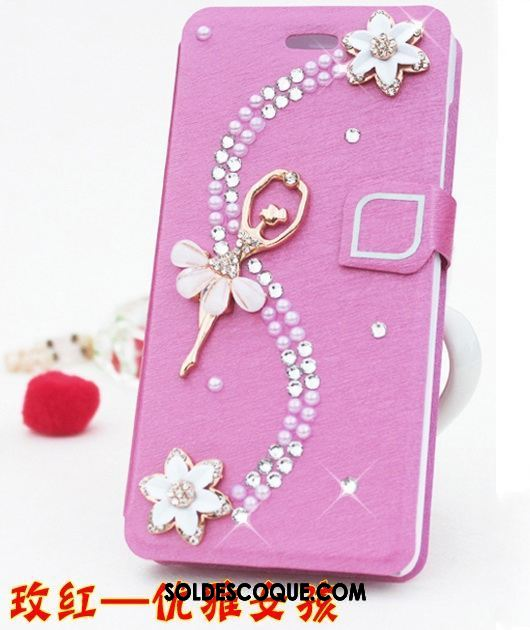 Coque Xiaomi Redmi Note 5 Clamshell Rouge Téléphone Portable Protection Strass Pas Cher