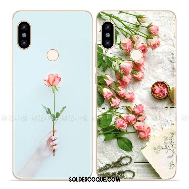 Coque Xiaomi Redmi S2 Rose Petit Incassable Simple Art En Vente