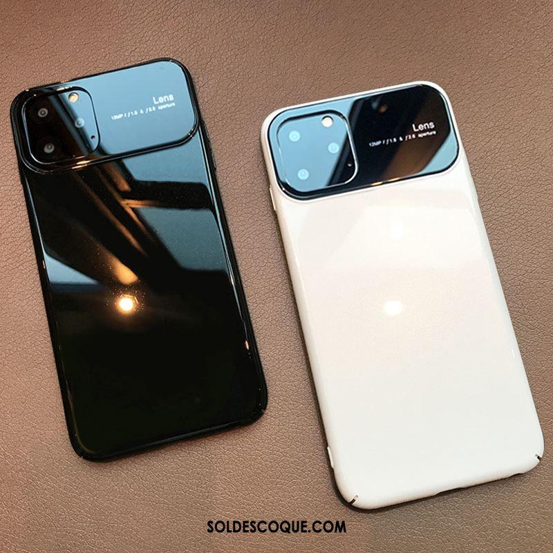 Coque iPhone 11 Pro Max Noir Luxe Marque De Tendance Incassable Nouveau Pas Cher 20408