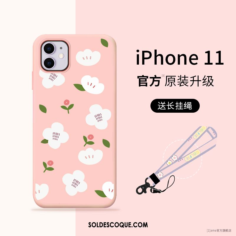 Coque iPhone 11 Silicone Fluide Doux Incassable Nouveau Téléphone Portable En Ligne