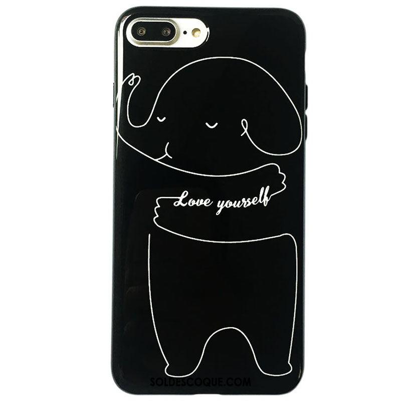 Coque iPhone 8 Plus Créatif Téléphone Portable Charmant Amoureux Petit En Ligne