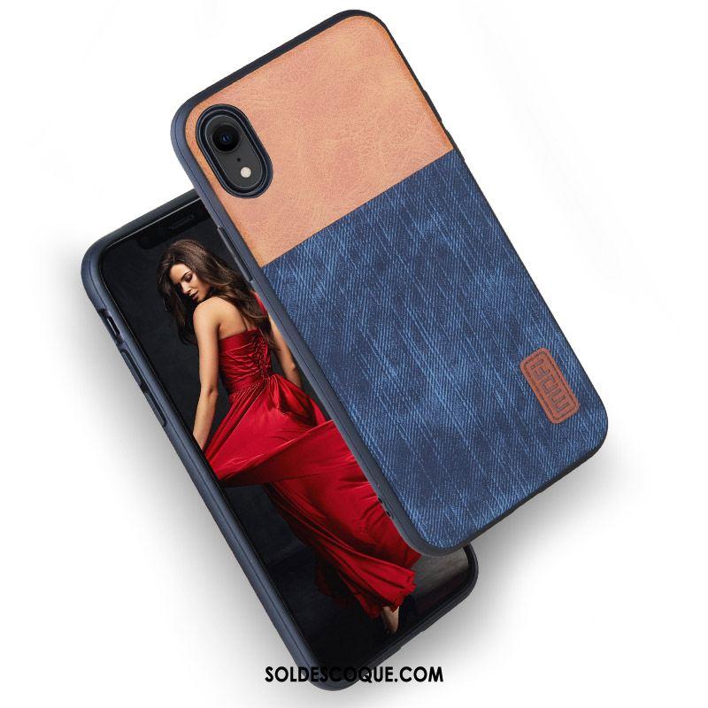 coque iphone xr silicone bleu