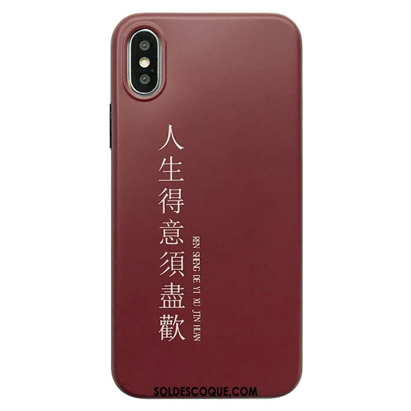 Coque iPhone Xs Max Protection Fluide Doux Art Simple Étui Soldes