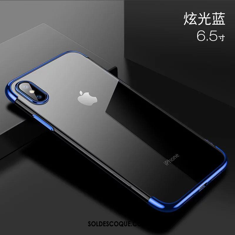 Coque iPhone Xs Max Transparent Luxe Très Mince Tout Compris Protection Pas Cher 1285
